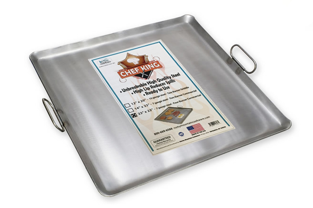 Rocky Mountain Cookware Master Chef Carbon Steel Griddle Metal 14 x 24 RM1424 14 x 24